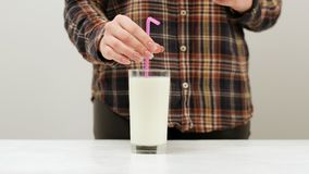 Fresh milkshake drink milk cocktail healthy style. Natural fresh milkshake drink. A pretend cocktail party for people of healthy lifestyle Royalty Free Stock Photos