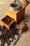 Fresh milled coffee Stock Photo