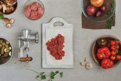 Fresh minced beef Royalty Free Stock Images