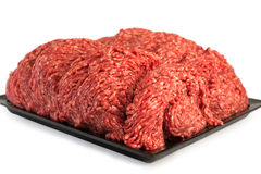 Fresh Minced Mix of Meat in a Plate Stock Images