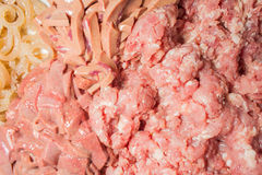 Fresh minced pork for cooking Royalty Free Stock Images