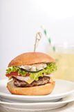 Fresh mini burger served meal Royalty Free Stock Photography