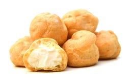 Fresh Mini Cream Puffs Royalty Free Stock Image