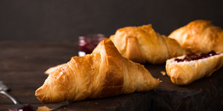 Fresh mini croissants Stock Photography