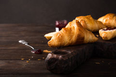 Fresh mini croissants Royalty Free Stock Photo