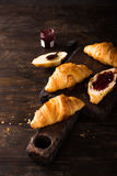 Fresh mini croissants Stock Photo