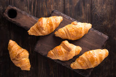 Fresh mini croissants stock images