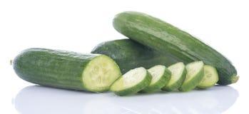 Fresh mini cucumbers Stock Photo