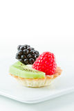 Fresh mini fruit tarts Royalty Free Stock Image