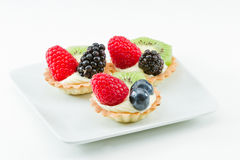 Fresh mini fruit tarts Royalty Free Stock Photography