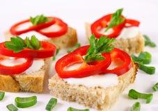 Fresh mini sandwiches Royalty Free Stock Photos