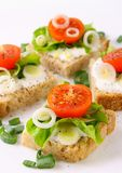 Fresh mini sandwiches Stock Image