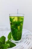 Fresh mint herbal tea Royalty Free Stock Photos