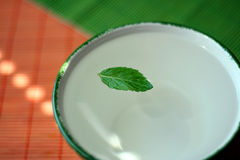 Fresh mint infusion Royalty Free Stock Image