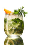 Fresh mint and lime water Stock Images