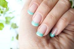 Fresh mint nails design Royalty Free Stock Image