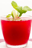 Fresh Mint In A Refreshing Drink Stock Photography