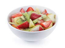 Fresh mix fruit salad with strawberry, kiwi and peach Royalty Free Stock Photography