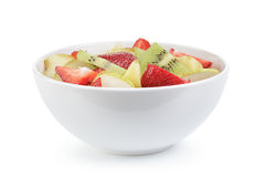 Fresh mix fruit salad with strawberry, kiwi and Stock Photo