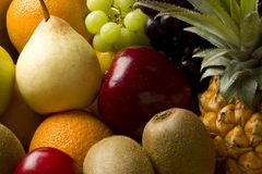Fresh mix of organic fruit Royalty Free Stock Images