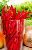 Fresh Mix vegetables. Chili style Royalty Free Stock Images