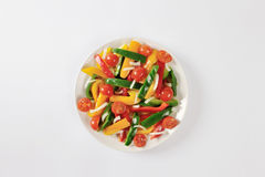 Fresh mixed bell pepper and tomato salad Royalty Free Stock Images