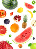 Fresh mixed falling fruits Royalty Free Stock Photos