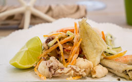Fresh mixed fried fish Stock Images
