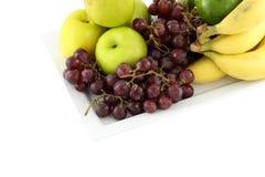 Fresh mixed fruit focus grape Royalty Free Stock Photos