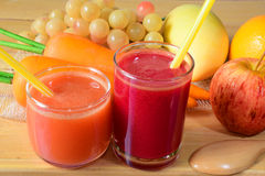 Fresh mixed fruit juice Royalty Free Stock Photography