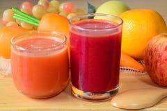 Fresh mixed fruit juice Royalty Free Stock Images