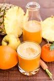Fresh mixed fruit juice Stock Photo