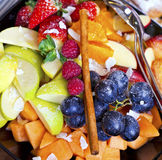 Fresh mixed fruit salad Royalty Free Stock Image