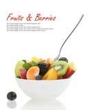 Fresh mixed fruit salad stock image
