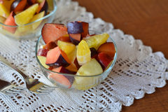 Fresh mixed fruit salad in the bowl Stock Image