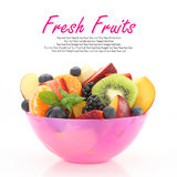 Fresh mixed fruit salad Royalty Free Stock Images