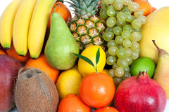Fresh mixed fruits background Royalty Free Stock Photo