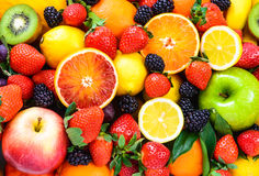 Fresh mixed fruits. Royalty Free Stock Image