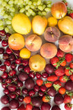 Fresh mixed fruits, berries background.Healthy eating.Love fruit, diet. Stock Photo