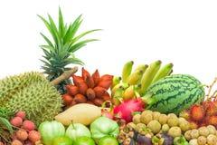 Fresh mixed fruits Royalty Free Stock Images