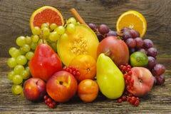 Fresh mixed fruits. Group of fresh mixed fruits royalty free stock photo