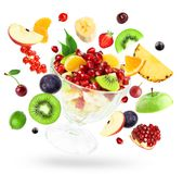 Fresh mixed fruits Royalty Free Stock Image