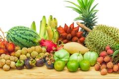 Fresh mixed fruits Stock Images