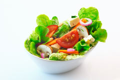Fresh mixed green salad Stock Photos