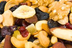 Fresh mixed nuts stock images