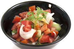 Fresh mixed organic vegetable salad royalty free stock photography