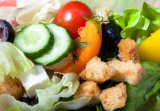 Fresh mixed salad background Royalty Free Stock Images
