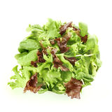 Fresh mixed salad in a bowl top view Royalty Free Stock Photos