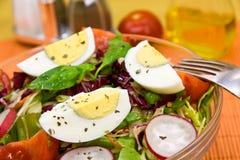Fresh mixed salad with cucumber,radish Stock Image