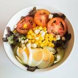 Fresh mixed salad with egg Royalty Free Stock Image